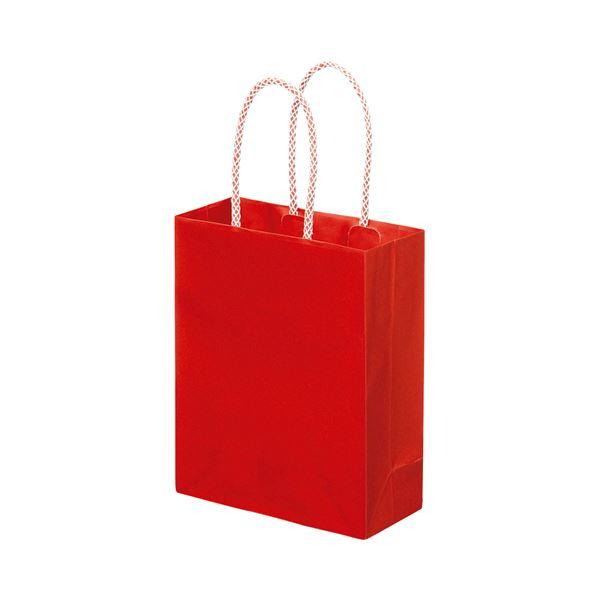 袋類関連 (まとめ) スーパーバッグ ライナー手提袋 小ヨコ165×タテ200×マチ幅75mm 赤 0998900120 1パック(10枚) 【×5セット】