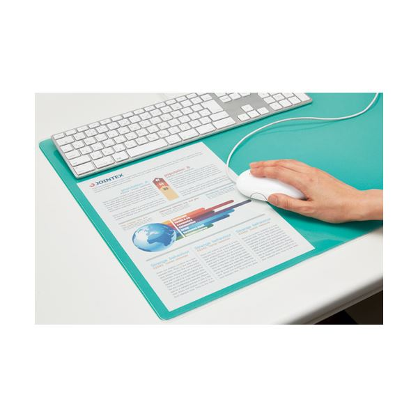 文具・オフィス用品 デスクマット 関連 (まとめ)セントラル スカイマット PC再生クリアー PRC-71W【×5セット】