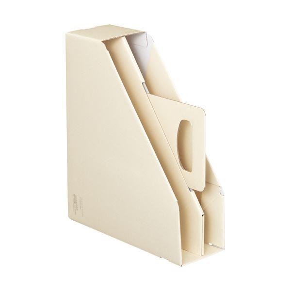 文具・オフィス用品関連 (まとめ)ファイルボックス[KaTaSu]取っ手付き・スタンドタイプ オフホワイト フ-KES470W 1冊 【×10セット】