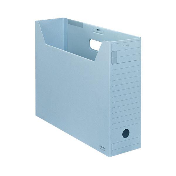 収納用品 マガジンボックス・ファイルボックス 関連 (まとめ)ファイルボックス-FS(Fタイプ) B4ヨコ 背幅102mm 青 フタ付 B4-LFFN-B 1セット(5冊) 【×3セット】