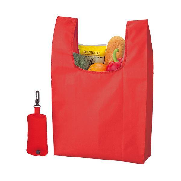 袋類関連 (まとめ) ジーナス ECO コンパクトマイバッグレッド 98080-RE 1枚 【×30セット】