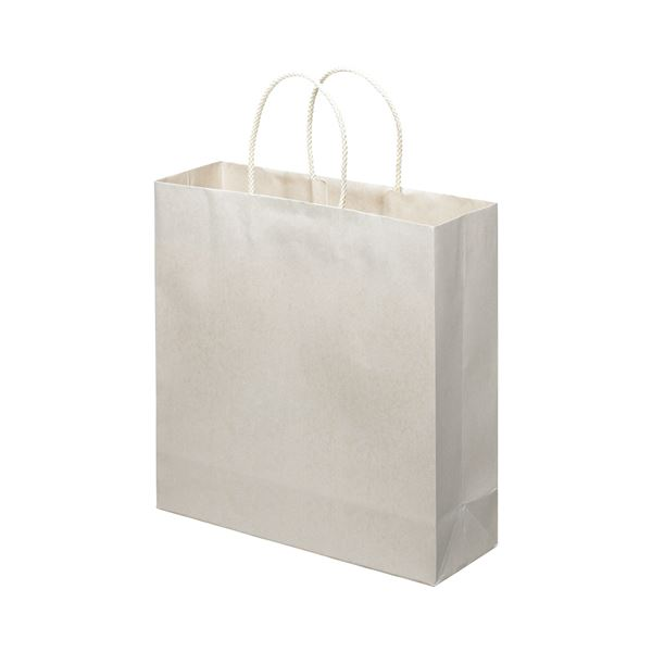 生活 雑貨 通販 (まとめ) スーパーバッグ ライナー手提げ袋 中 ヨコ320×タテ320×マチ幅110mm 白 0998900170 1パック(10枚) 【×10セット】