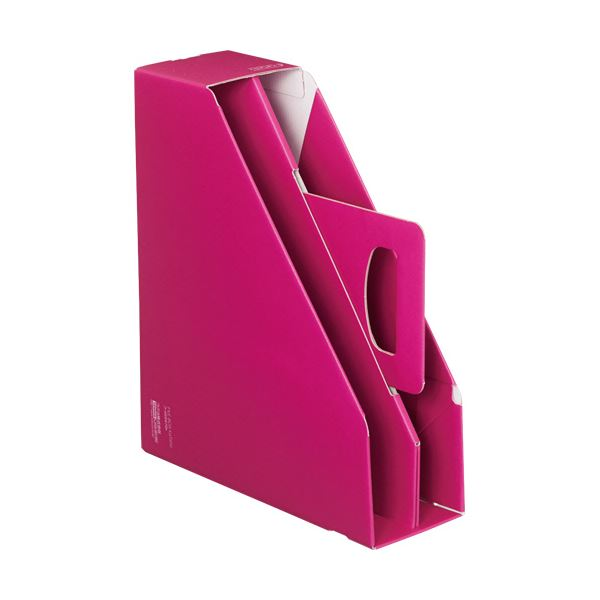 収納用品 マガジンボックス・ファイルボックス 関連 (まとめ)ファイルボックス[KaTaSu]取っ手付き・スタンドタイプ レッド フ-KES470R 1冊 【×10セット】