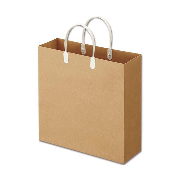 生活 雑貨 通販 (まとめ) TANOSEE ラミネートクラフトバッグ 中 ヨコ320×タテ320×マチ幅110mm 白 1パック(10枚) 【×10セット】