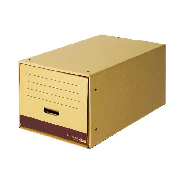 文具・オフィス用品関連 ファイリングキャビネットロングタイプ A4用 内寸W322×D544×H263mm 1セット(5個)