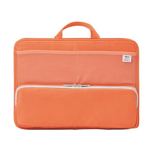 バッグ 男女兼用バッグ 関連 (まとめ買い)SMART FITbright label スタンドポケット (ヨコ型) A4 オレンジ A-7664-4 1個【×2セット】
