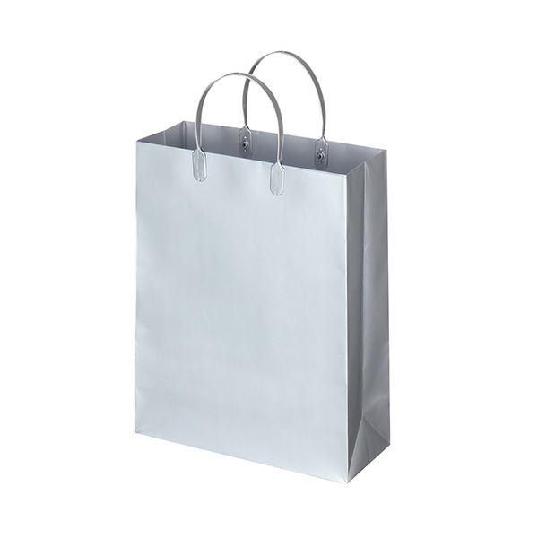 袋類関連 (まとめ) TANOSEE ラミネートバッグ 中縦タイプ シルバー 1パック(10枚) 【×5セット】