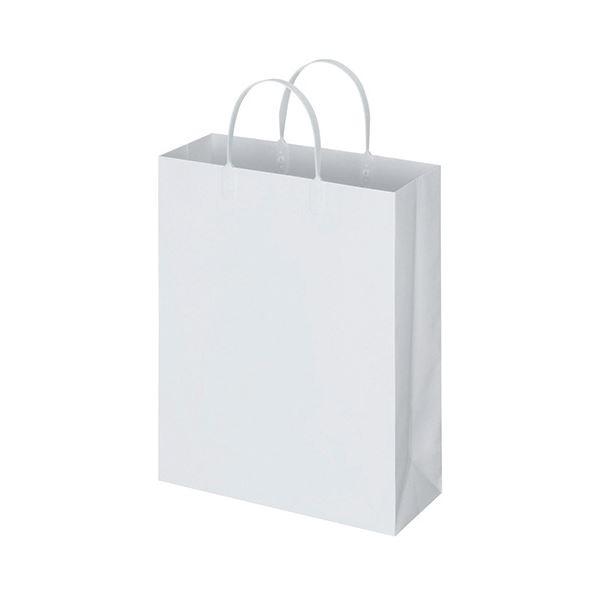 文房具・事務用品 ギフトラッピング用品 袋・ギフトバッグ 関連 (まとめ) ラミネートバッグ 中縦タイプ 白 1パック(10枚) 【×5セット】