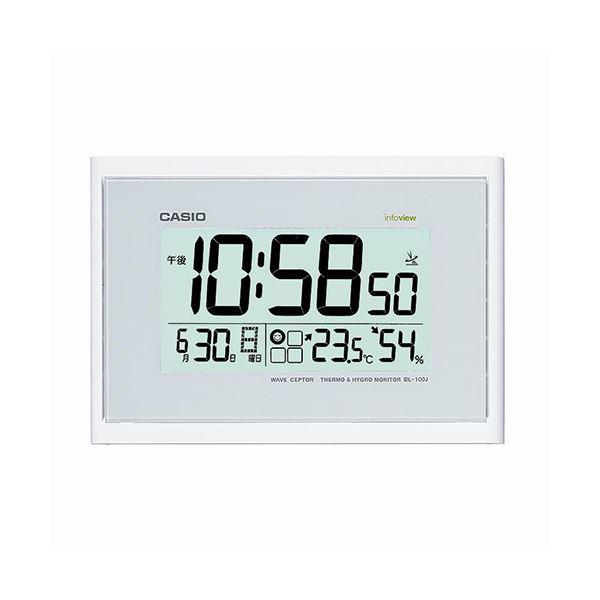 置き時計・掛け時計関連 電波時計 ホワイトIDL-100J-7JF 1台