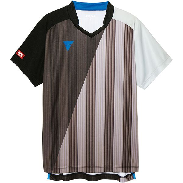 スポーツ・アウトドア 卓球 関連 V‐GS053 ユニセックス ゲームシャツ 31466 BK(ブラック) L