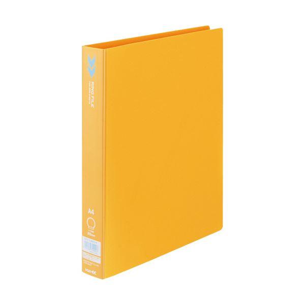 文房具・事務用品 ファイル・バインダー 関連 (まとめ)リングファイル(K2) A4タテ2穴 200枚収容 背幅34mm オレンジ K2フ-C420YR 1冊 【×20セット】