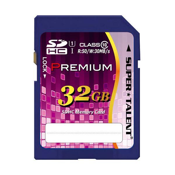 パソコン・周辺機器関連 (まとめ)スーパータレントUHS-I対応SDHCメモリーカード CLASS10 32GB ST32SU1P 1枚【×2セット】