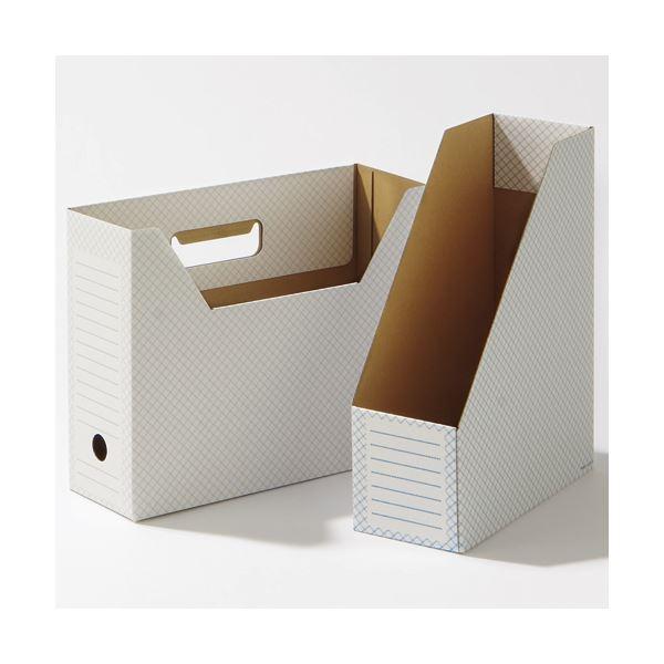 グレー (50冊:10冊×5パック) A4タテ 背幅100mm (ホワイト) ファイルボックス関連 1セット TANOSEEボックスファイル