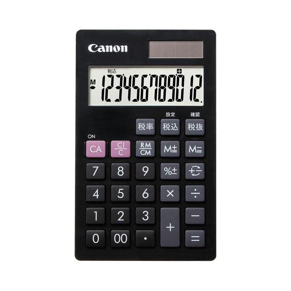 電卓 電卓本体 関連 (まとめ買い)電卓 LS-12T 12桁手帳サイズ ブラック 7427B001 1台【×5セット】