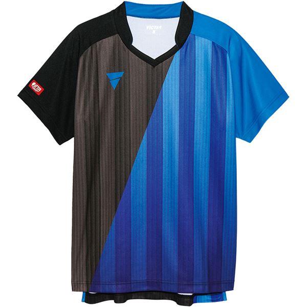 卓球用品関連 VICTAS(ヴィクタス) VICTAS V‐GS053 ユニセックス ゲームシャツ 31466 BL(ブルー) 2XS