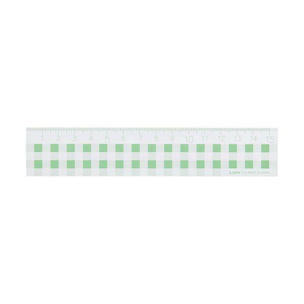 文房具・事務用品 製図用品 定規 関連 (まとめ買い)ギンガムチェック定規15cm グリーン C-5 1本【×20セット】
