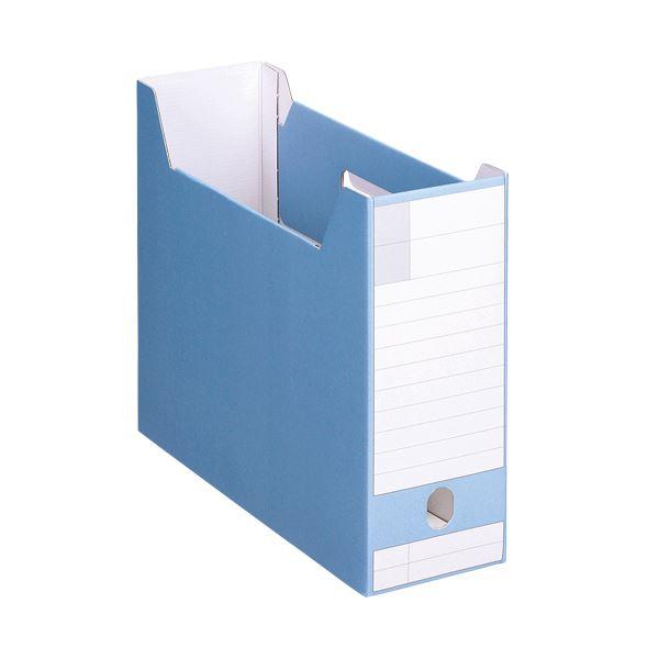 文具・オフィス用品関連 (まとめ)ボックスファイルダンボール製 A4ヨコ 背幅102mm ブルー BF-632D 1冊 【×20セット】