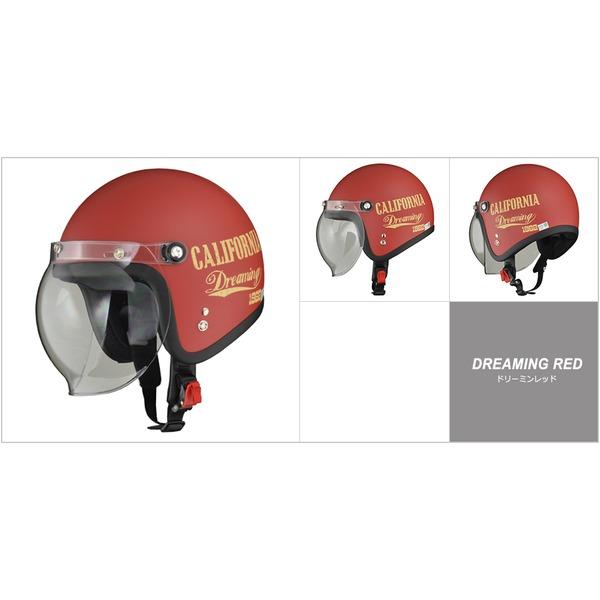 バイク用品 ヘルメット 関連 ジェットヘルメット ドリーミンレッド