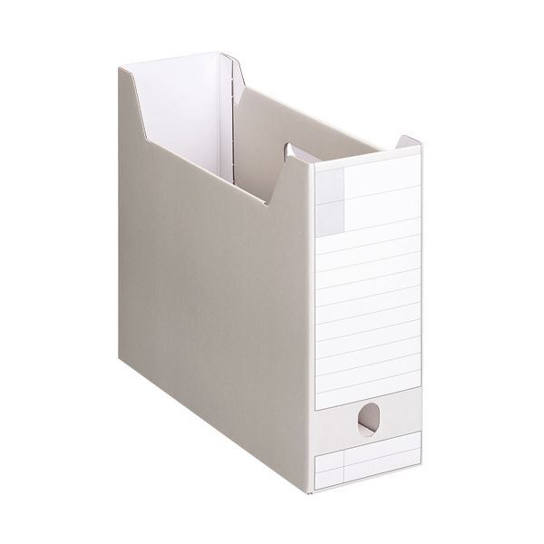 収納用品 マガジンボックス・ファイルボックス 関連 (まとめ)ボックスファイルダンボール製 A4ヨコ 背幅102mm グレー BF-632D 1冊 【×20セット】