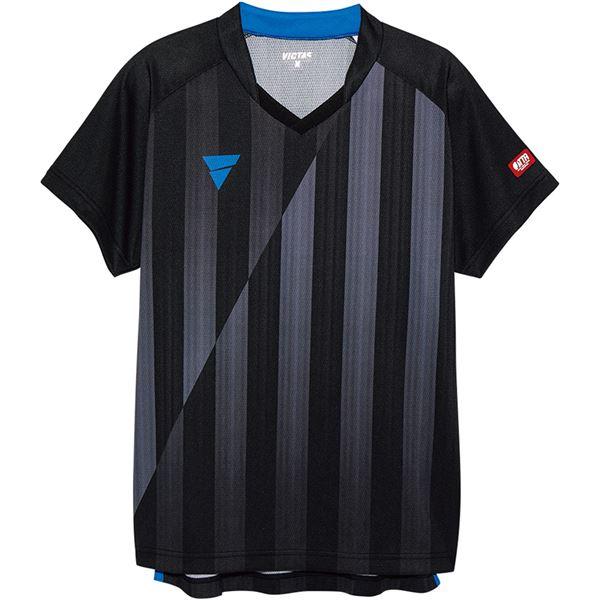 スポーツ・アウトドア 卓球 関連 V‐NGS052 ユニセックス ゲームシャツ 31467 ブラック 2XS