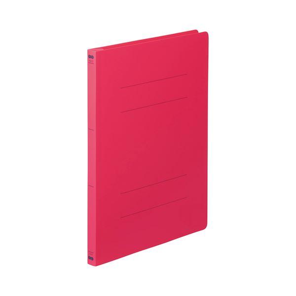 生活 雑貨 通販 (まとめ) TANOSEE フラットファイル(PP) A4タテ 150枚収容 背幅17mm レッド 1セット(25冊:5冊×5パック) 【×5セット】