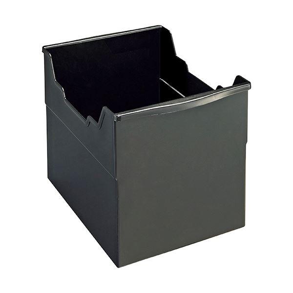 文具・オフィス用品関連 (まとめ)フリーボックス PP製A4ヨコ 背幅265mm ブラック FB-235P 1個 【×5セット】