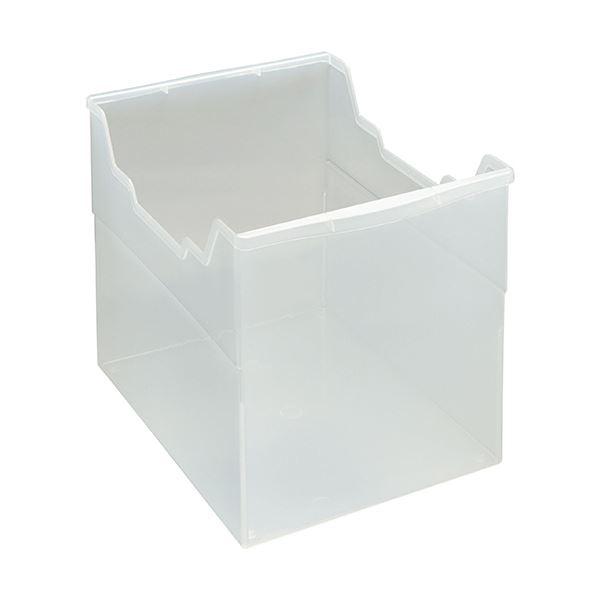 収納用品 マガジンボックス・ファイルボックス 関連 (まとめ)フリーボックス PP製A4ヨコ 背幅265mm 透明 FB-235P 1個 【×5セット】