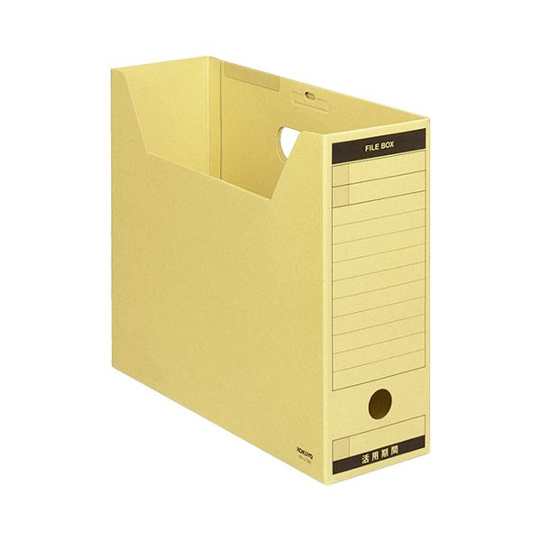 収納用品 マガジンボックス・ファイルボックス 関連 ファイルボックス-FS(Aタイプ) A4ヨコ 背幅102mm クラフト フタ付 A4-LFBN1セット(50冊)