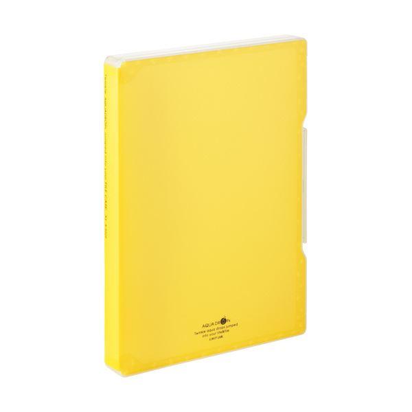収納用品 マガジンボックス・ファイルボックス 関連 (まとめ)ファイルケース A4 270枚収容 背幅30mm 黄 A-5029-5 1個 【×10セット】
