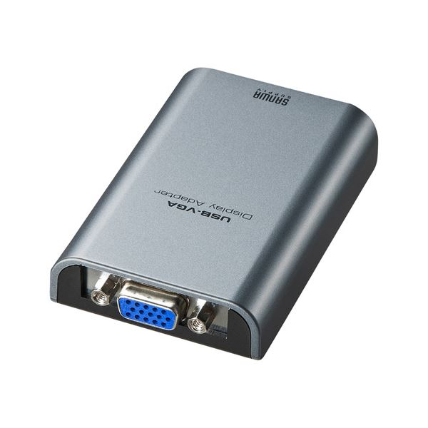 パソコン・周辺機器 PCアクセサリー ケーブル 関連 USB-VGAディスプレイ変換アダプタ AD-USB24VGA 1個