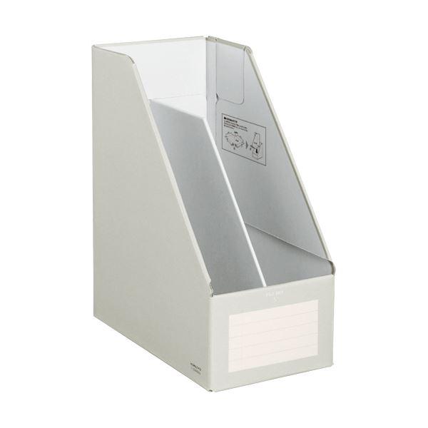 文具・オフィス用品関連 (まとめ)ファイルボックスS(ワイドタイプ) A4タテ 背幅150mm グレー フ-EW450M 1冊 【×10セット】