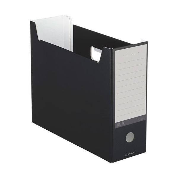 文具・オフィス用品関連 (まとめ)ファイルボックス A4ヨコ 背幅102mm ブラック A4-NELF-D 1セット(10冊) 【×3セット】