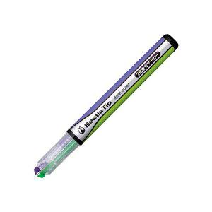 文房具・事務用品 筆記具 関連 (まとめ買い) 2色蛍光マーカービートルティップ ライトグリーン×パープル PM-L303-2-1P 1本 【×50セット】