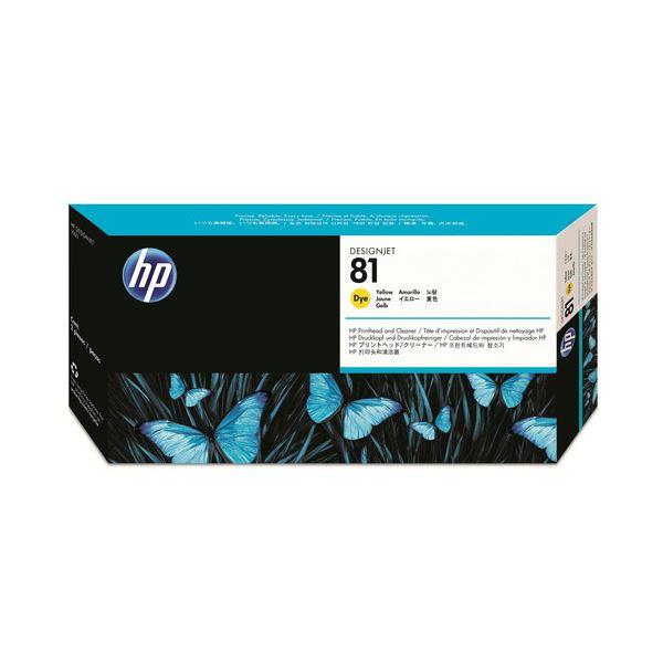 パソコン・周辺機器 PCサプライ・消耗品 インクカートリッジ 関連 HP81プリントヘッド/クリーナー イエロー C4953A 1個