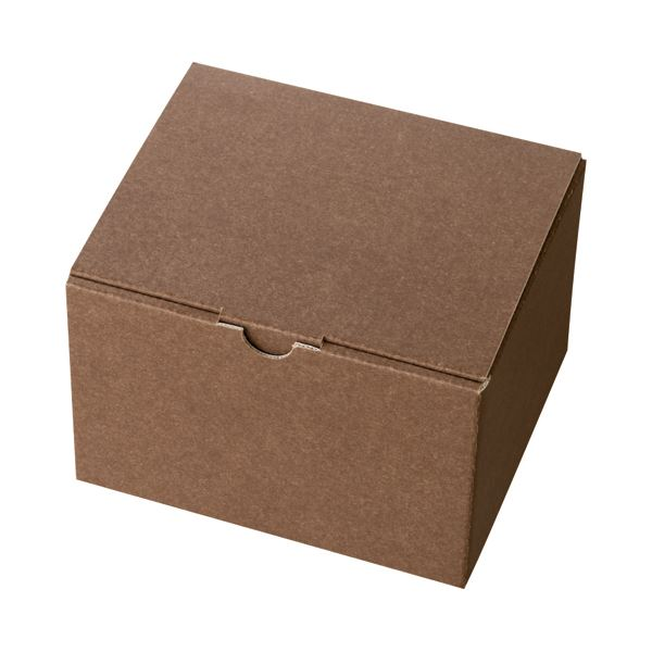 生活 雑貨 通販 (まとめ) ヘッズ 無地ブラウンギフトボックス W163×D140×H110mm MBR-GB4 1パック(10枚) 【×10セット】