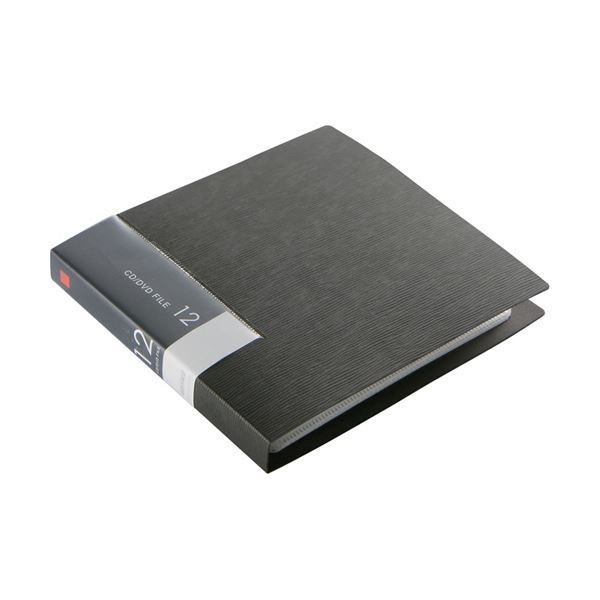 パソコン・周辺機器関連 (まとめ)バッファローCD&DVDファイルケース ブックタイプ 12枚収納 ブラック BSCD01F12BK 1個【×30セット】