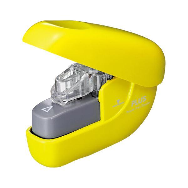 文房具・事務用品 ホッチキス・穴あきパンチ 関連 (まとめ) 針なしホッチキスペーパークリンチ 6枚とじ イエロー SL-106NB 1個 【×10セット】