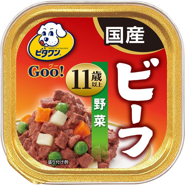 犬用品 ドッグフード・サプリメント 関連 (まとめ買い)グー ビーフ 野菜 11歳以上 100g【×96セット】【ペット用品・犬用フード】