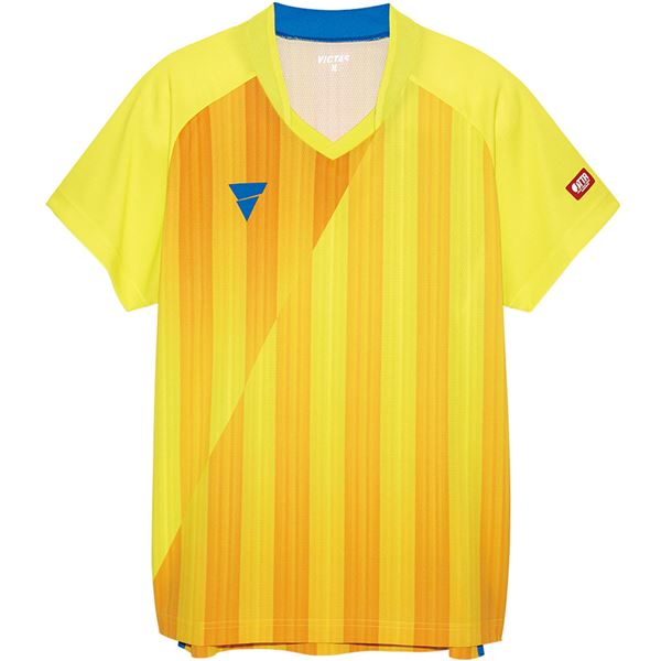 卓球用品関連 VICTAS(ヴィクタス) VICTAS V‐NGS052 ユニセックス ゲームシャツ 31467 イエロー S