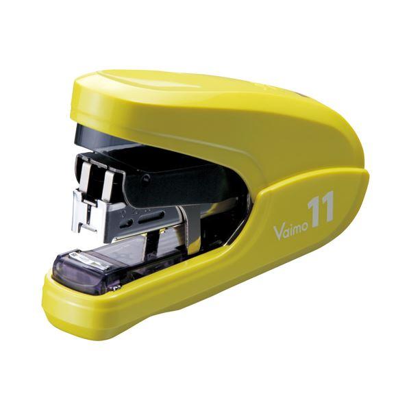 ホッチキス・ステープラー関連 (まとめ) マックス バイモ11フラット 40枚とじイエロー HD-11FLK/Y 1個 【×5セット】