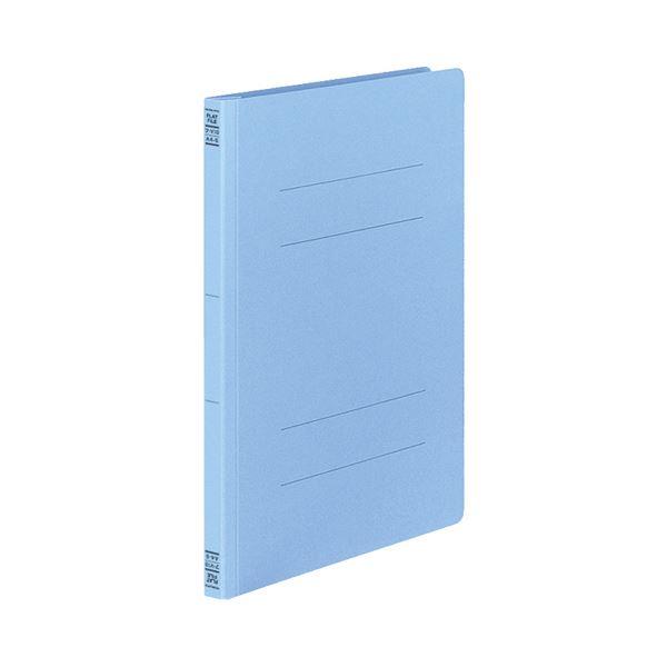 文房具・事務用品 ファイル・バインダー 関連 フラットファイルV(樹脂製とじ具) A4タテ 150枚収容 背幅18mm コバルトブルー フ-V10CB1セット(100冊:10冊×10パック)