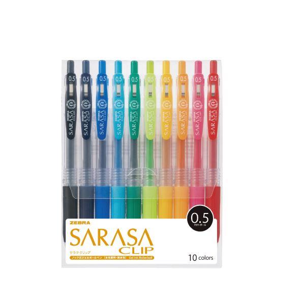 文具・オフィス用品 ペン・万年筆 関連 (まとめ)サラサクリップ0.5mm 10色セットA JJ15-10CA【×30セット】