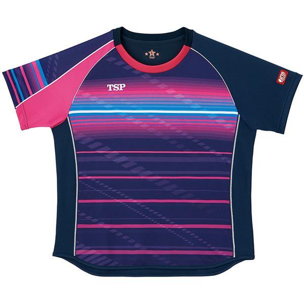 スポーツ用品・スポーツウェア 卓球用品 関連 卓球アパレル ゲームシャツ レディスクラールシャツ 女子用 032416 ネイビー 3XL