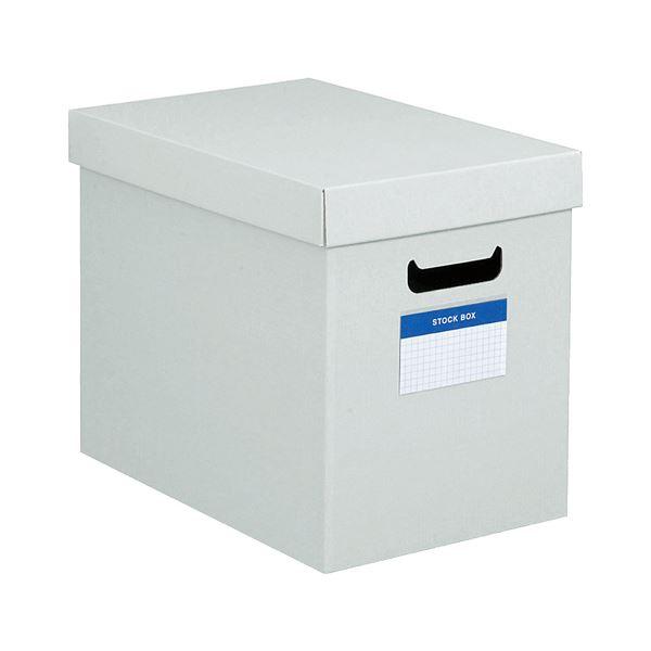 文具・オフィス用品関連 (まとめ)ストックボックス(フタ付き)内寸180×322×260mm グレー フ-SB982M 1個 【×10セット】