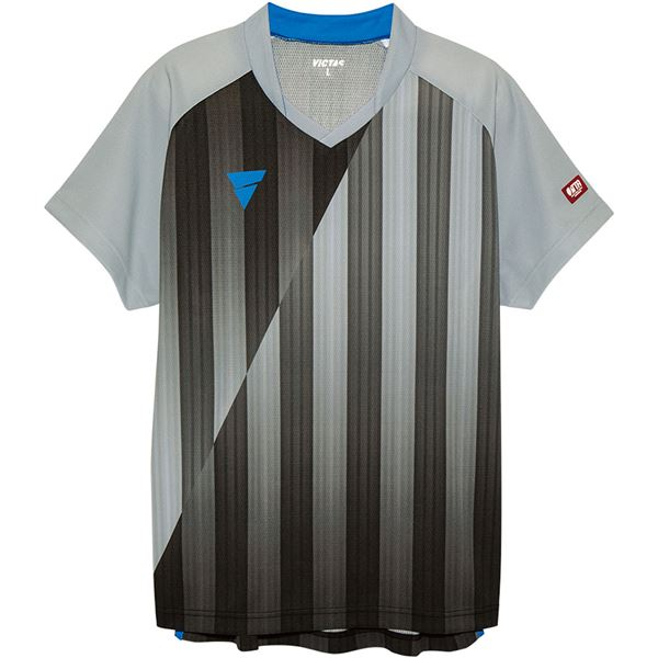 卓球用品関連 VICTAS(ヴィクタス) VICTAS V‐NGS052 ユニセックス ゲームシャツ 31467 グレー XL