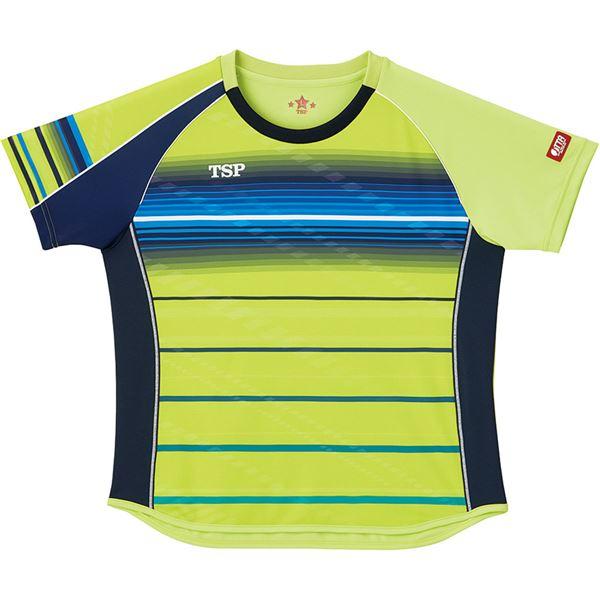 スポーツ用品・スポーツウェア 卓球用品 関連 卓球アパレル ゲームシャツ レディスクラールシャツ 女子用 032416 ライム 2XL