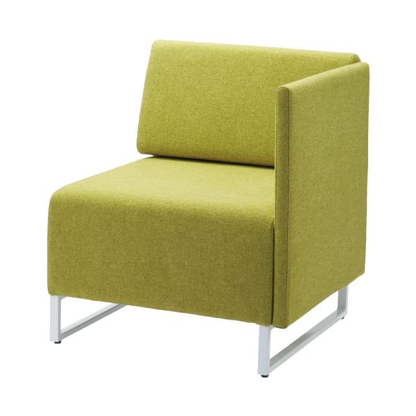 オフィス家具 オフィスチェア 高機能チェア 関連 応接チェア LDP 背・左片肘付 イエローグリーン