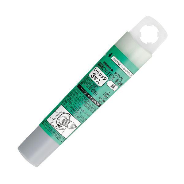 ペン・万年筆関連 (まとめ買い) ゼブラ蛍光オプテックス1・2用カートリッジ 緑 RWK8-G 1ケース(3本) 【×50セット】