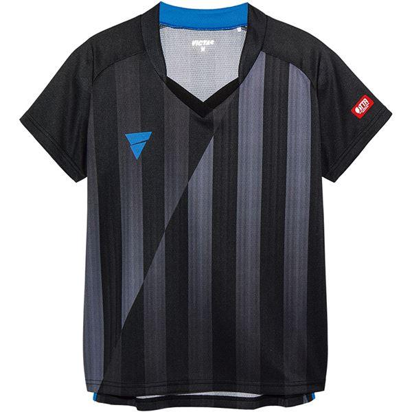 スポーツ・アウトドア 卓球 関連 V‐LS054 レディース ゲームシャツ 31468 ブラック S