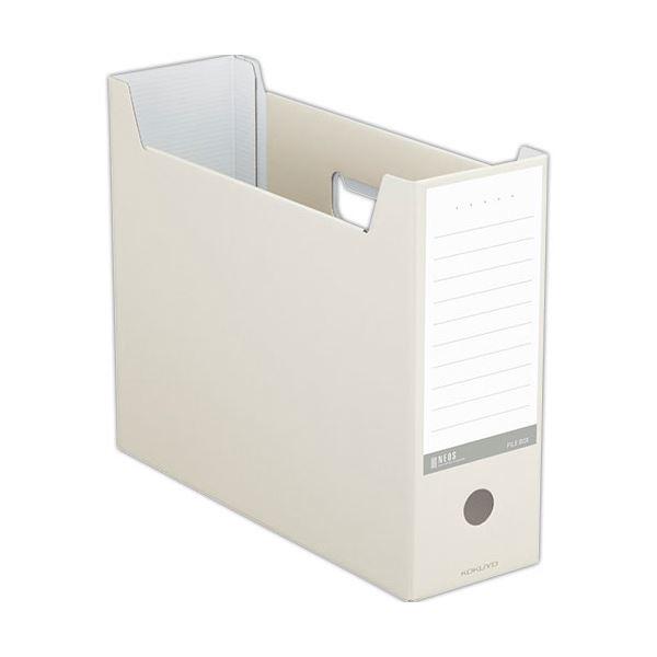 文具・オフィス用品関連 (まとめ)ファイルボックス A4ヨコ 背幅102mm オフホワイト A4-NELF-W 1冊 【×20セット】